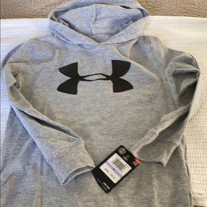 Underarmour Boys gray hoodie